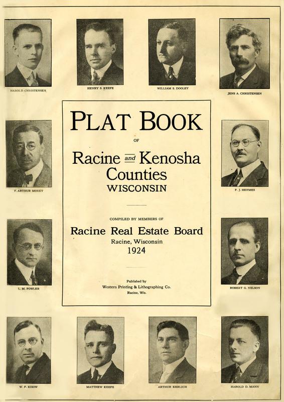 Plat book of Racine and Kenosha counties, Wisconsin 1924
