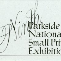 9th Parkside National Small Print Exhibition Program Cover