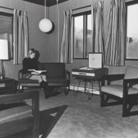 Living room in Parkside Village apartments