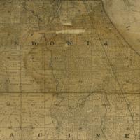 1858 Caledonia Plat Map