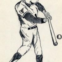 Ranger Bear playing baseball