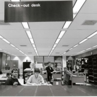 Circulation Desk in the Library