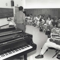 Music class lecture led by Dr. James Kinchen