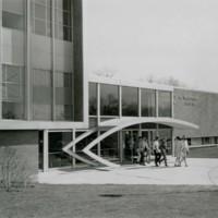 Students leaving a building at Kenosha Center