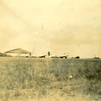 Three planes in a grassy field