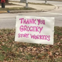 Thank you grocery store workers