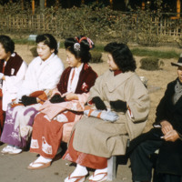 Seated Japanese women