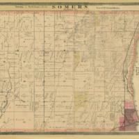 1887 Somers Plat Map