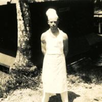 A soldier in chef's attire