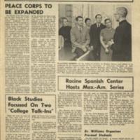 Parkside Collegian, Volume 1, issue 3, November 21, 1969