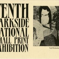 10th Parkside National Small Print Exhibition program cover