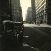 Automobiles in an urban area