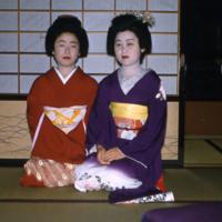 Two maiko (apprentice geisha) in kimono