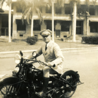 An officer on a motorcycle