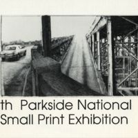 5th Parkside National Small Print Exhibition Program Cover