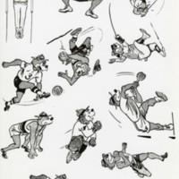 Ranger Bear playing various sports