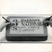 3rd Parkside National Small Print Exhibition program cover
