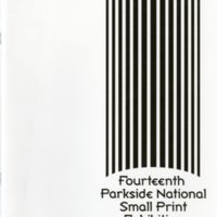 14th Parkside National Small Print Exhibition Program Cover