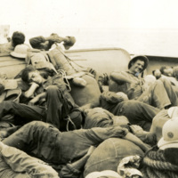 A group of soldiers are relaxing