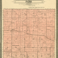 1908 Paris Plat Map