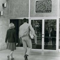 Racine Center, main entrance