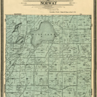1908 Norway Plat Map