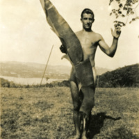 A nearly naked man