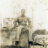 A seated soldier