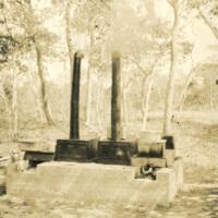 A stone furnace