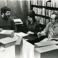 Archivist Nick Burckel with staff