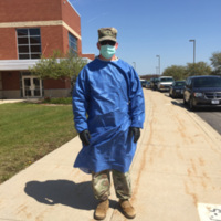 National Guard member in PPE