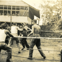 A boxing match with spectators