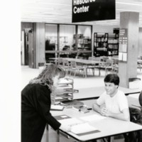 Academic resource center in the library