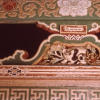 Sleeping cat carving at Sakashita gate, Nikkō Tōshōgū
