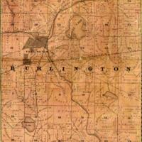 1858 Burlington Plat Map
