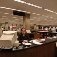 Reference librarian Dina Kaye