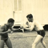 Soldiers sparring