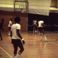 Basketball training session