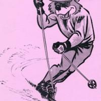 Ranger Bear skiing