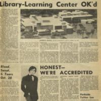 Parkside Collegian, Volume 1, issue 1, October 24, 1969