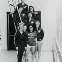 UW-Parkside women's swim team with coach