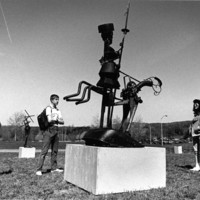 Student sculpture exhibition in 1987