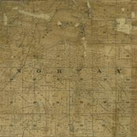 1858 Norway Plat Map