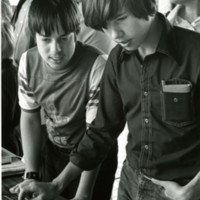 Kids attend a computer fair in 1978