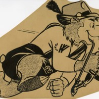 Ranger Bear with pipe and beer