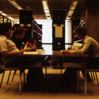 Students in the UW-Parkside Library