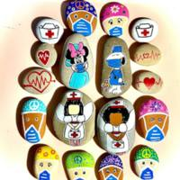 Painted rocks for healthcare workers