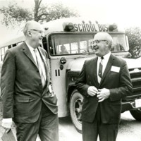Chancellor Irvin Wyllie with University of Wisconsin President Fred Harrington