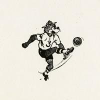 Ranger Bear playing soccer
