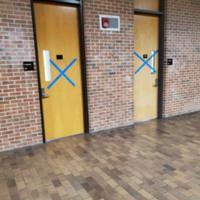 Door in RITA hallway<br />